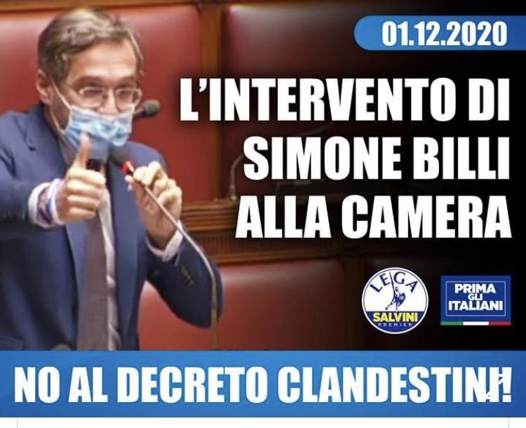 Intervento contro l'abolizione dei Decreti Salvini