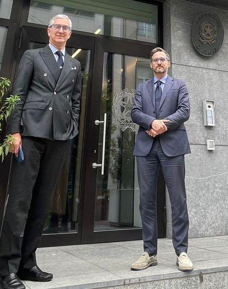 Billi con Ambasciatore Genuardi a Bruxelles